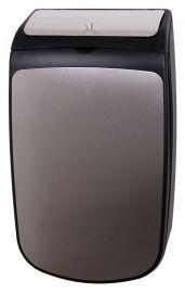 PlastiQline Exclusive Hygiene Abfallbehälter 25 Liter mit Klappdeckel aus schwarzem Edelstahl PlastiQ-line-exclusive 5742