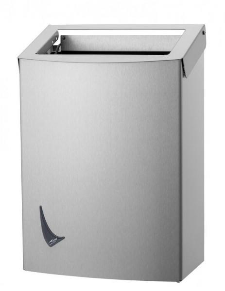 Wings waste bin open available in 9L, 20L and 56L made of stainless steel Wings 4012, 4022, 4032