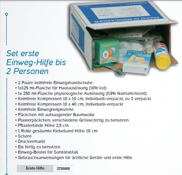 First-aid set suitable for the medicine cabinet RB000210 3720000