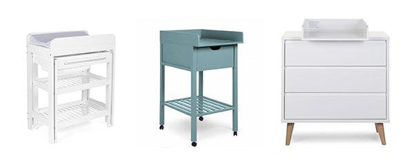 Wickelkommode von Childhome mit Wickelauflage, ausreichend Schubladen & Stauraum, modern, stabil.