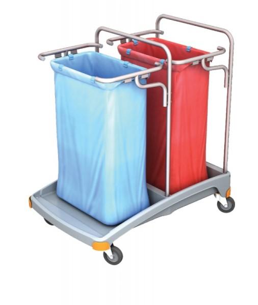 Splast Doppel-Müllentsorgungswagen aus Kunststoff 2 x 120l - Deckel ist optional Splast TSO-0005,TSO-0006