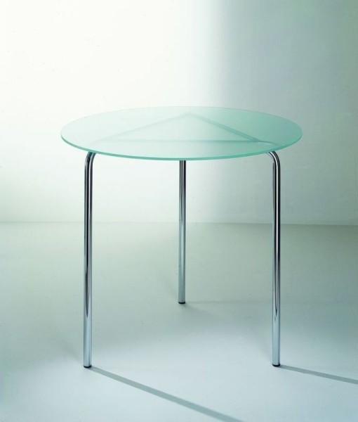 Graepel Tempesta erstklassiger Indoor Tisch verchromt mit Tischfläche aus Sekuritglas Graepel Tempesta K00042730