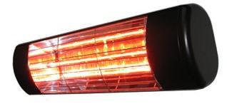 Heatlight schwarzer Infrarot Aluminium Heizstrahler 1500W...