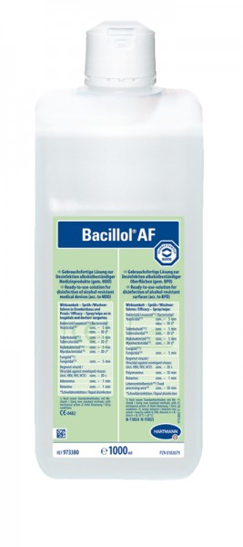 Hartmann Bacillol® AF gebrauchsfertige Schnell-Desinfektionsmittellösung 1L