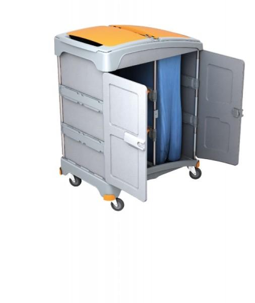 Splast mobiles Nassreinigungssystem mit 2 Ablagefächern und Müllsackhalter 120l Splast TSZZ-0003