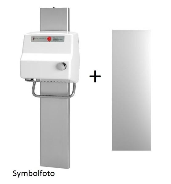 Set Dan Dryer Hände- bzw. Haartrockner AA + Höheneinstellungsschiene + Spiegel