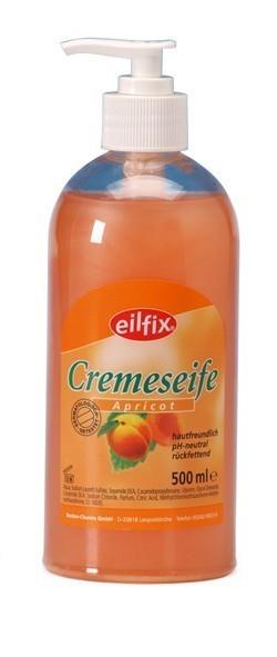 Eilfix cream soap 500 ml in a practical pump dispenser for daily cleaning Becker 5001,5002