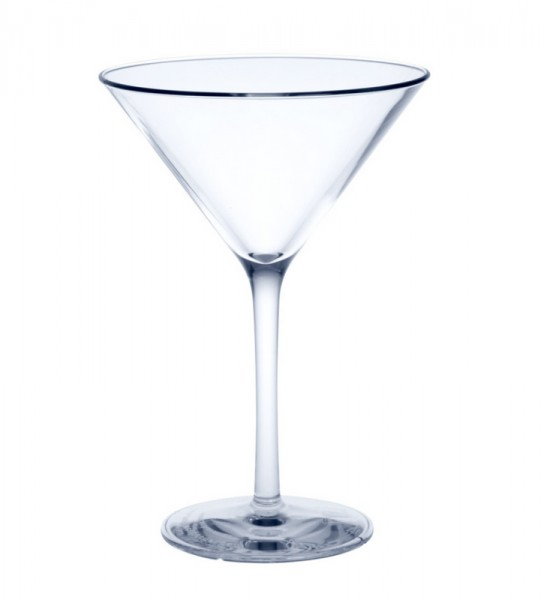 Reusable Martini Glass crystal clear of plastic ca. 0,1l SAN Schorm GmbH 9087