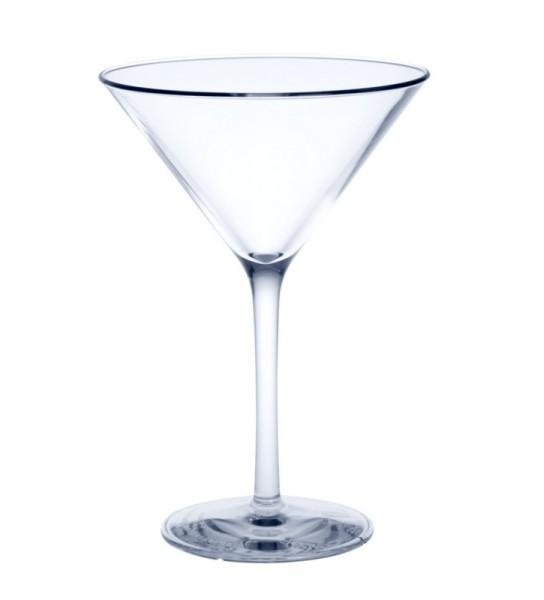 Martini Kunststoff Mehrweg Glas 0,1l glasklar Alkohol Cocktail Feier Party Bar Gastronomie Pool Hausparty