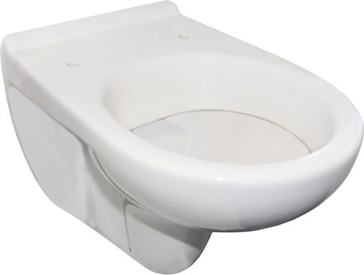 White toilet ceramics with non-porous surface of Franke