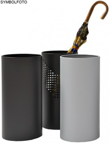 Graepel QUADROTTO umbrella stand made of chrome steel, painted black, perforated G-line Pro K00016682