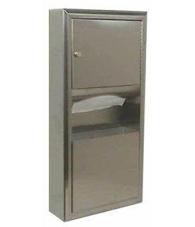 Bobrick B-3699 surface mounted paper towel dispenser/waste receptacle Bobrick B-3699