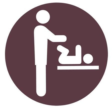Baby changer sticker Man