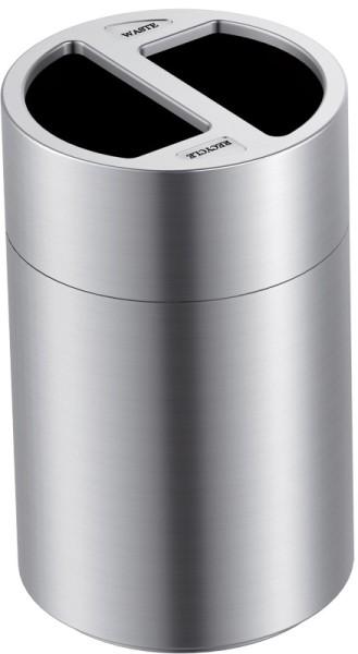 Großvolumiger Recycling-Abfalleimer 2x60 Liter VB 667765