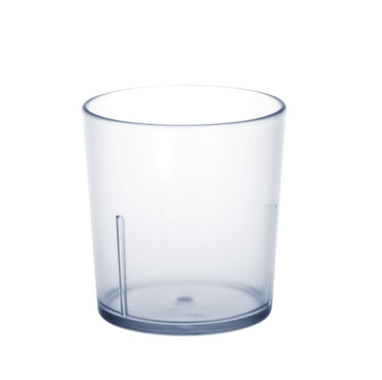 12 piece Universal Cup frosted 0,2l SAN of plastic Schorm GmbH 9056