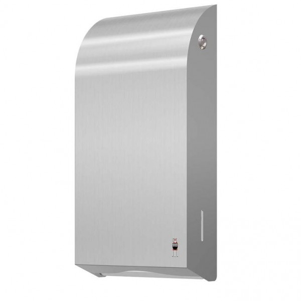 Dan Dryer paper towel dispenser made of brushed stainless steel for 400 paper towels Dan Dryer A/S 286
