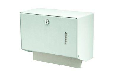 MediQo-line Kleiner abschließbarer Papierhandtuchspender zur Wandmontage aus Aluminium oder Edelstahl MediQo-line 8160,8165,8170