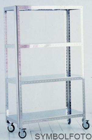 G-Line Pro Regal Quadra S - Bathroom aus poliertem Edelstahl 1.4016 mit Räder G-line Pro K00089311