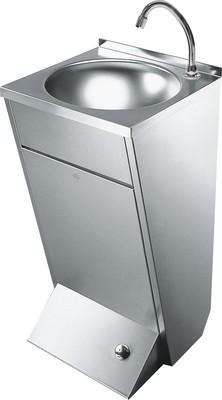 Beatiful robust washbasin for wall- or floor mounting