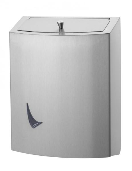 Geschlossener Mülleimer aus Edelstahl erhältlich in 9L, 20L und 56L von Wings