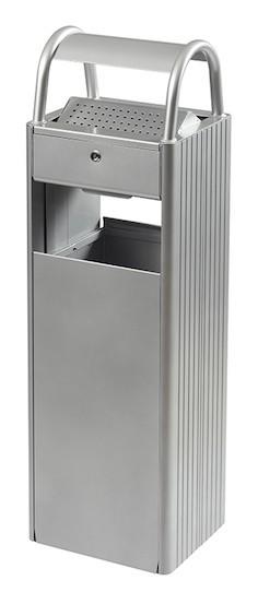 Rossignol Kopa floor mounted ashtray/bin 6L/30L with triangular key lock Rossignol 56445,56431,56446,56590