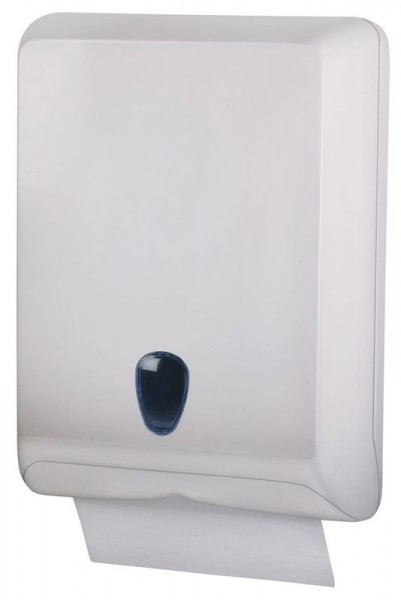 Marplast hand towel dispenser MP830 - V-fold or Z-fold made of plastic in white Marplast S.p.A. 830White