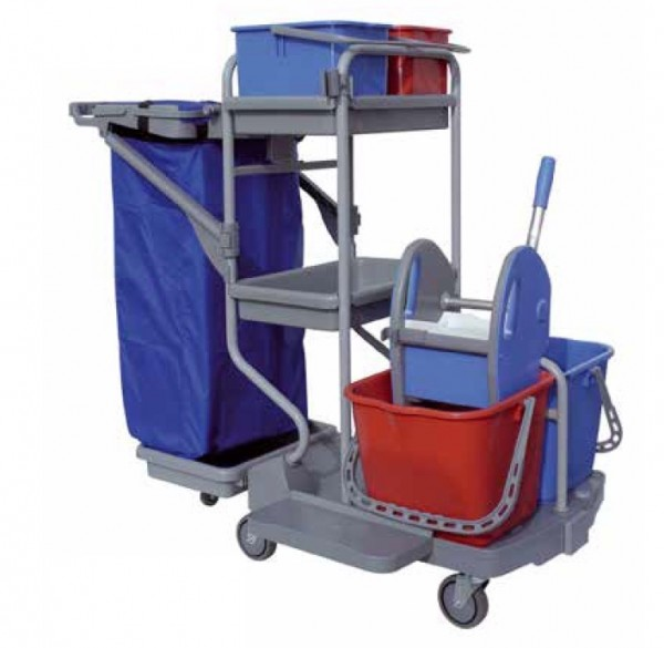 IPC Euromop Top Evolution Mega cleaning trolley with waste bag holder and buckets IPC Euromop CARR00408 IP06