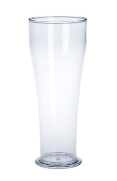SET 90 piece wheat beer glass 0,3l SAN crystal clear plastic dishwasher safe, food safe Schorm GmbH 9073