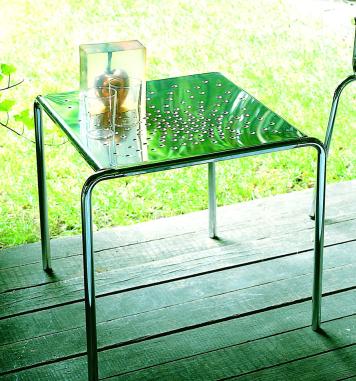 Graepel Tempesta erstklassiger Outdoor Tisch aus Edelstahl 1.4016 silber lackiert und behandelt Graepel Tempesta K00042658