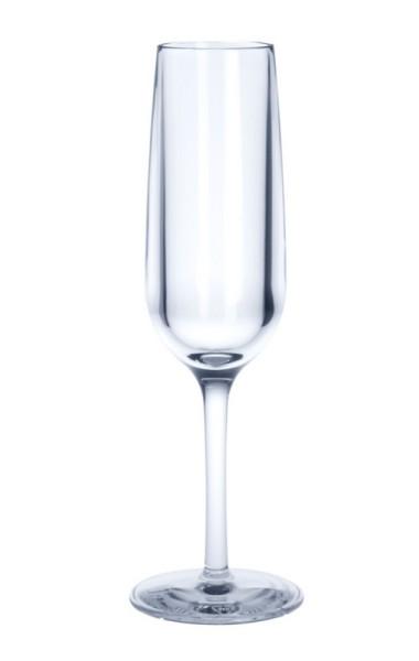 Wieder verwendbares Champagnerglas 0,1l aus Kunststoff Glas Alkohol Champagner Gastronomie Getränk Party trinken