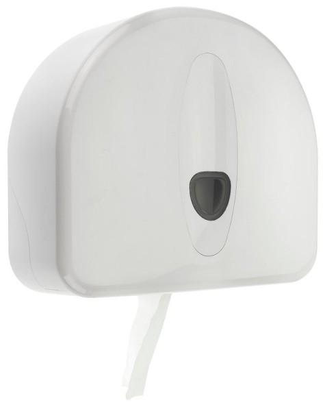 PlastiQline 2020 Mini Großrollenspender aus Kunststoff mit Schloss zur Wandmontage