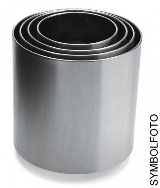 Graepel G-Line Pro NAXOS 6 flower pots in different sizes made of stainless steel G-line Pro K00031491