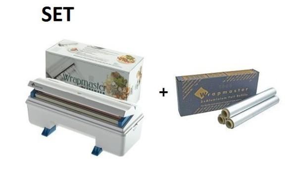 SET Effizienter und robuster Wrapmaster-Spender 3000 und Alufolie 3000 Wrapmaster 63M90,24C62