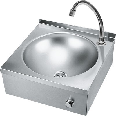 Franke washbasin with knee activity for wall mounting made of stainless steel Franke GmbH LP20