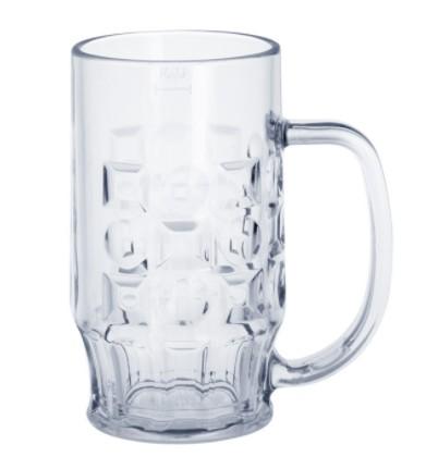 SET Angebot: 12 Stk. Bier Krug 0,4l SAN glasklar Plastik Spülmaschinen fest lebensmittelecht wiederverwendbar Kunststoff Krug