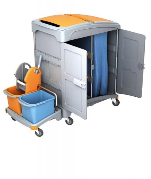 Splast wet cleaning system with wringer, buckets, 2 trays and waste bag holder Splast TSZZ-0001