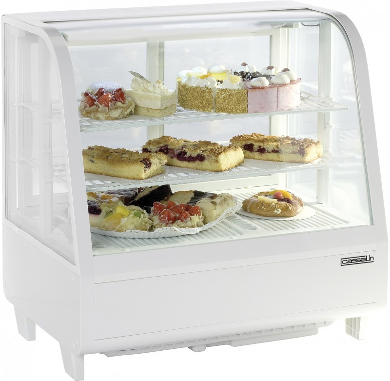 refrigerated display case 100l with double glazi...