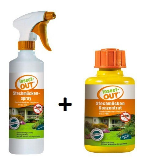 Set Insect-OUT® Stechmückenspray 500 ml + Insect-OUT® Stechmücken Konzentrat 100 ml