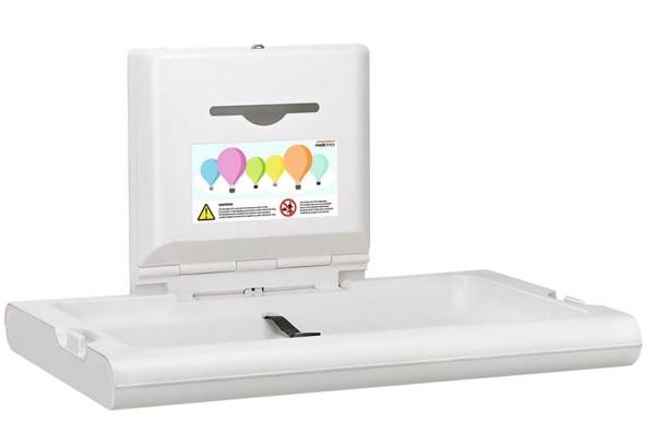 Mediclinics Baby Wickeltisch CP0016H horizontal Biocote®-Schutz Kunststoff weiß