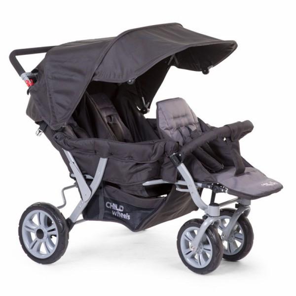 Childwheels Drillings Sportwagen + Regenschutz Childhome  Tandems