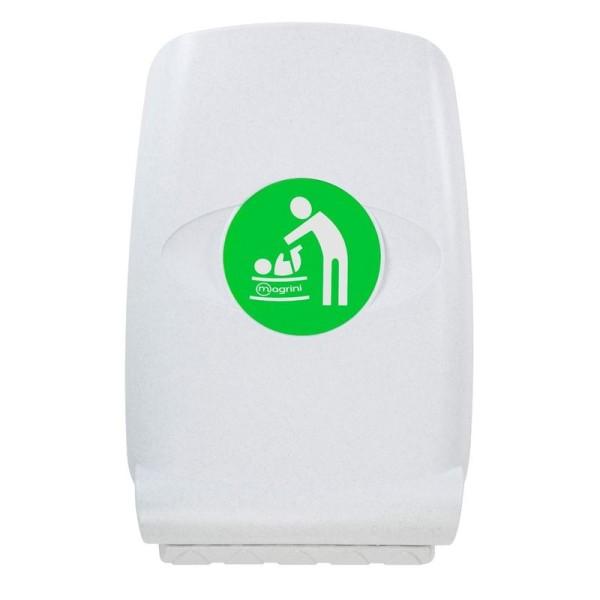 Wandwickeltisch aus Kunststoff - Senkrecht - Mit hohe Kanten   MV64