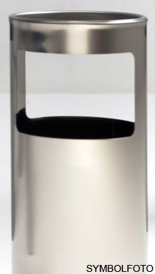 Graepel G-Line Pro Livigno standing indoor ashtray made of stainless steel 1.4016