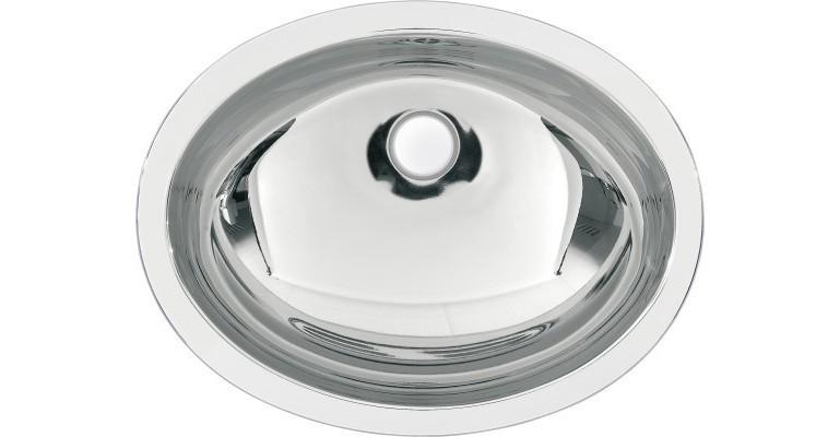ovales Einlege- und Unterbaubecken RNDH450-O aus C...