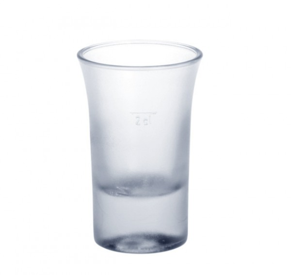 20 piece Shot glass 2cl B52 SAN frosted of plastic reusable Schorm GmbH 9093