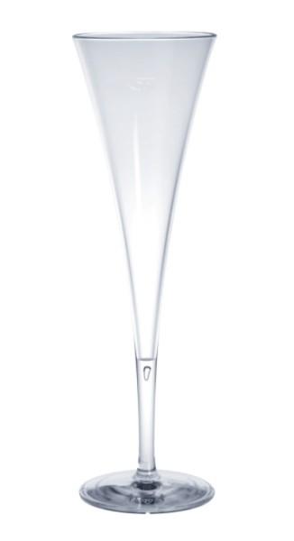 Kunststoff Sektflöte 0,1l Sekt Champagner Schaumwein Prosecco Mehrwegbecher lebensmittelecht glasklar Spülmaschinen tauglich