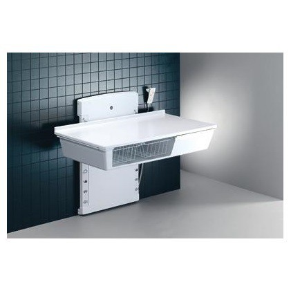 Pressalit wall hung changing table in 2 sizes: 800x1400 mm or 800x1800 mm Pressalit R8 762 - R8 763