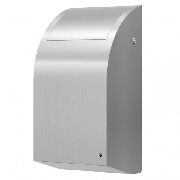 Dan Dryer waste bin 30L made of brushed stainless steel with inner bucket Dan Dryer A/S 284