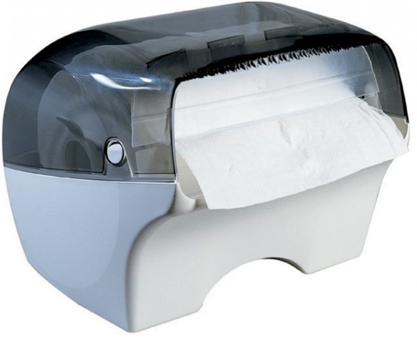 Marplast papertowel dispenser Bobinotto MP668 in white/transparent for wall mount Marplast S.p.A. Bobinotto