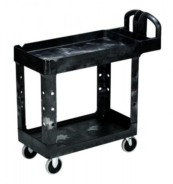 Heavy-Duty Utility Cart with Lipped shelves S, Rubbermaid Rubbermaid VB 004500