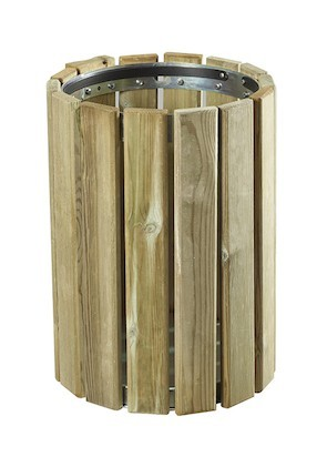 Rossignol Eden Wood dustbin 20L for wall or pole mounting Rossignol 58150